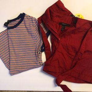 Forever 21 Shorts NWT Forever 21 Stripe Shirt